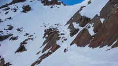 Przełęcz Schalfjoch 3375m. W dole lodowiec Nordlichen Schalfferner