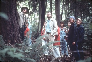 Ranger Paul leading forest walk in Discovery Park, 1975