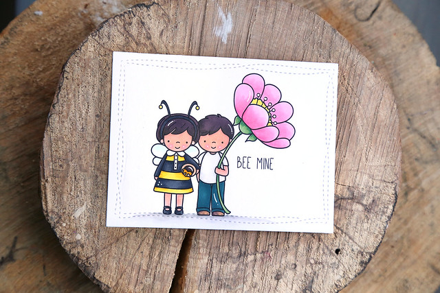 you're the honeybee to my flower {just ME digital stamps}