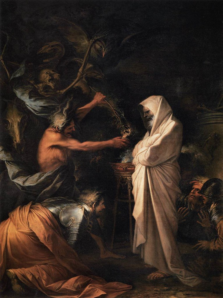 Salvator Rosa - The Shade of Samuel Appears to Saul, 1668