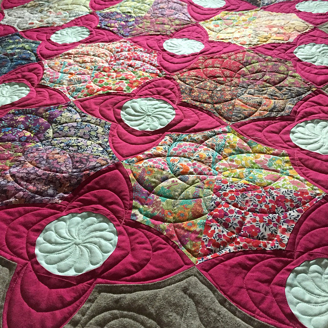 Meadow Quilt on bed