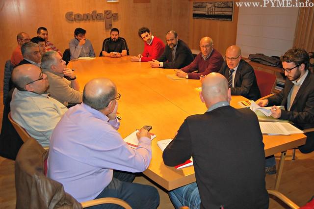 CONFAES y sindicatos durante la negociación del Convenio Colectivo de transporte de viajeros por carretera
