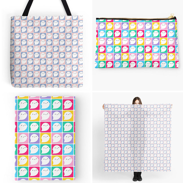 Little Ghost patterns at Redbubble