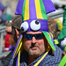 A stranger in the Mardi Gras parade crowd by Monceau