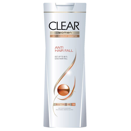 Best Shampoo for hair fall control in india - Clear Women Anti Dandruff Anti Hair Fall Shampoo