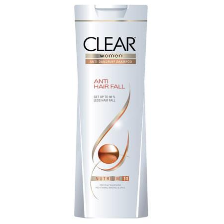 Best Shampoo for hair fall control in india - Clear Women Anti Dandruff Anti Hair Fall Shampoo