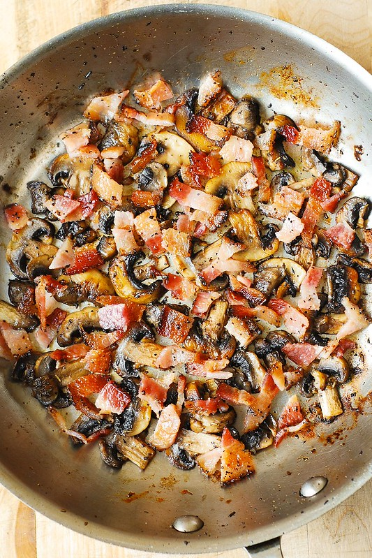 how to cook mushrooms and bacon