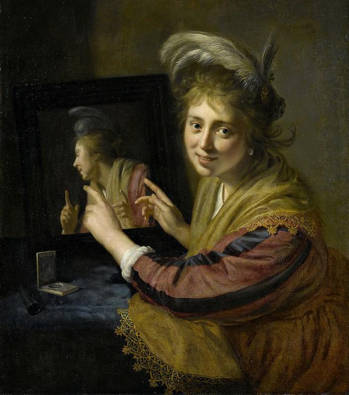 Paulus Moreelse - Meisje bij een spiegel (1632)