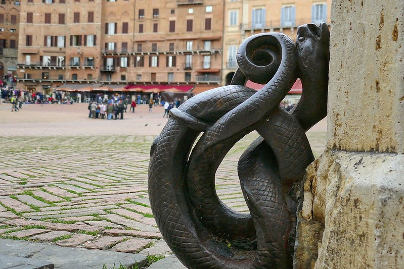 Metal snake ring in Siena, Italy