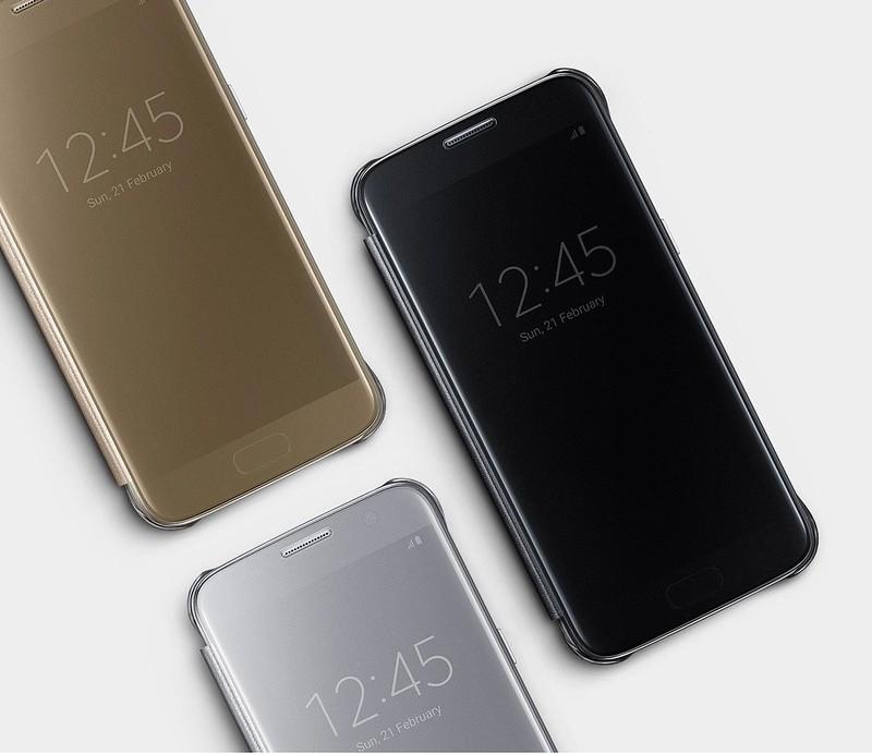 70b4fa7528 Chiếc bao da Clear View SamSung Galaxy S7 Edge đã sử dụng chíp không dây  được gắn trong bao da kết hợp với chip được gắn trong máy để giúp cho bao  ...