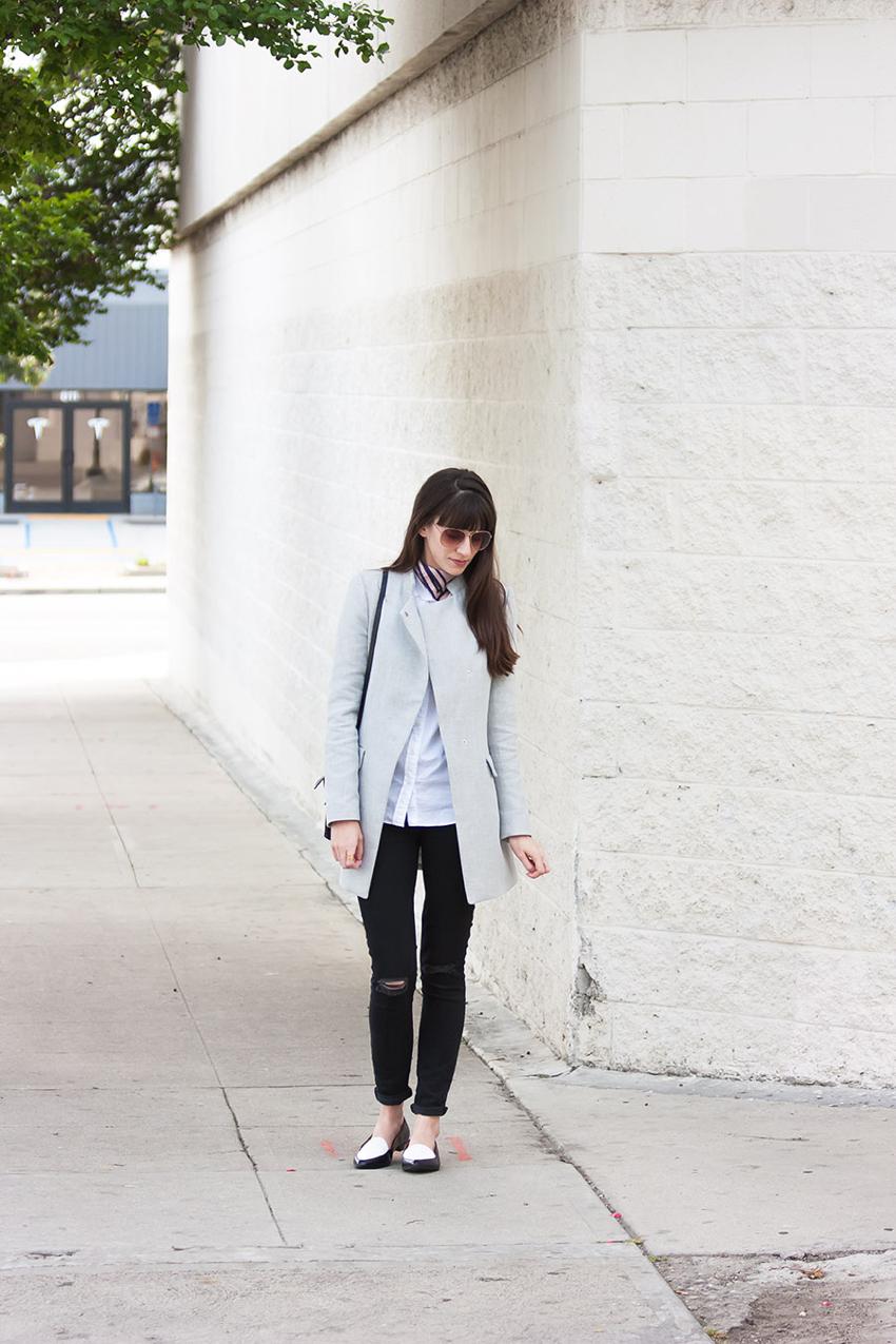 Zara Coat, Black Denim