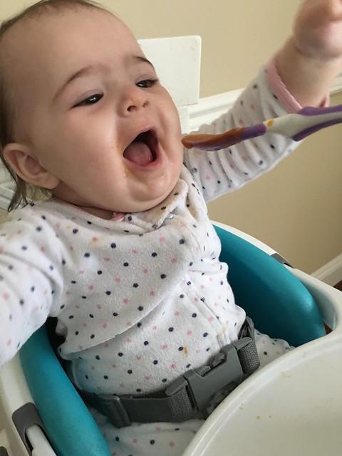 Claire loves fruit!