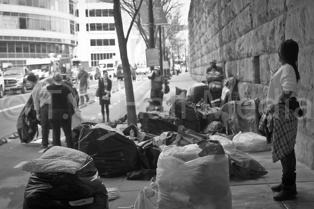 Union Station Homeless Community Evicted