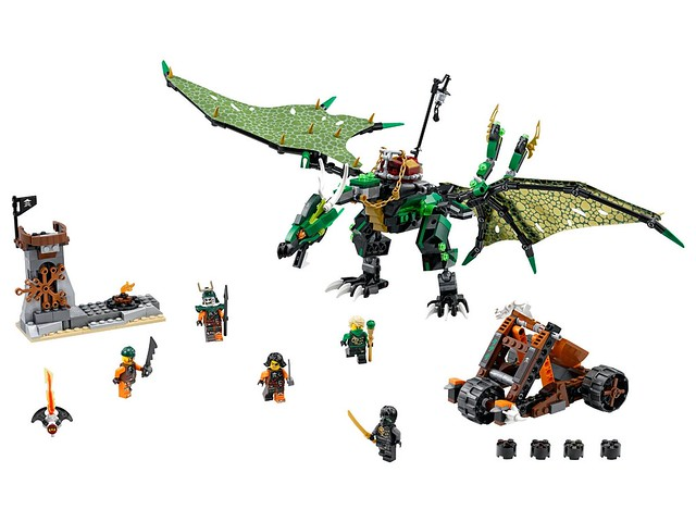 Nouveautés LEGO Ninjago 70593 The Green NRG Dragon