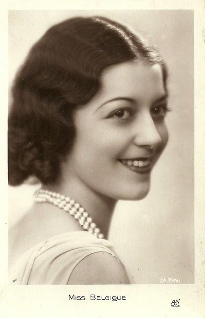 Miss Belgium 1931: Netta Duchateau