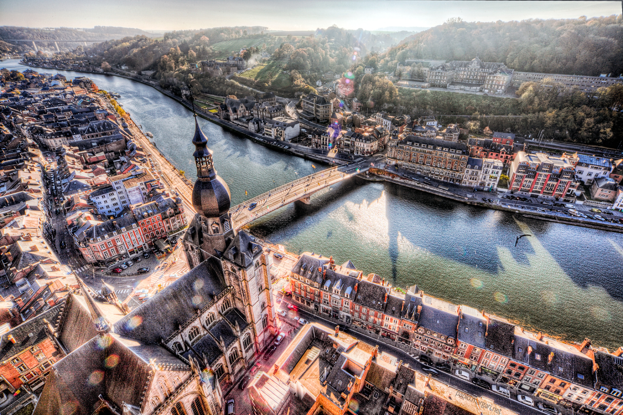 Dinant, Belgium - View from the Citadelle de Dinant, Belgique, HDR