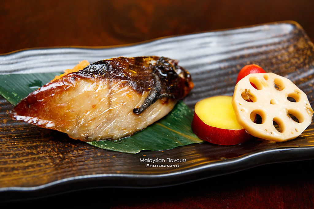 Minori Japanese Restaurant Royale Chulan Hotel yellow tail fish