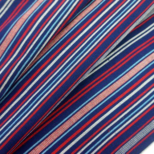 藍底細條紋 原住民 雲南麗江民族 裝飾服裝布料 CE890056