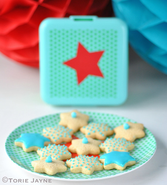 Star print Rice Dk plate & lunch box