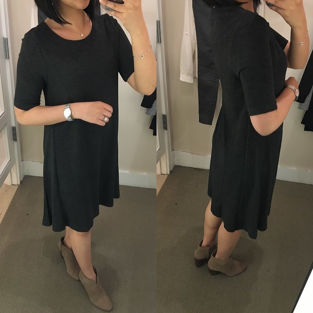 LOFT Short Sleeve Trapeze Dress