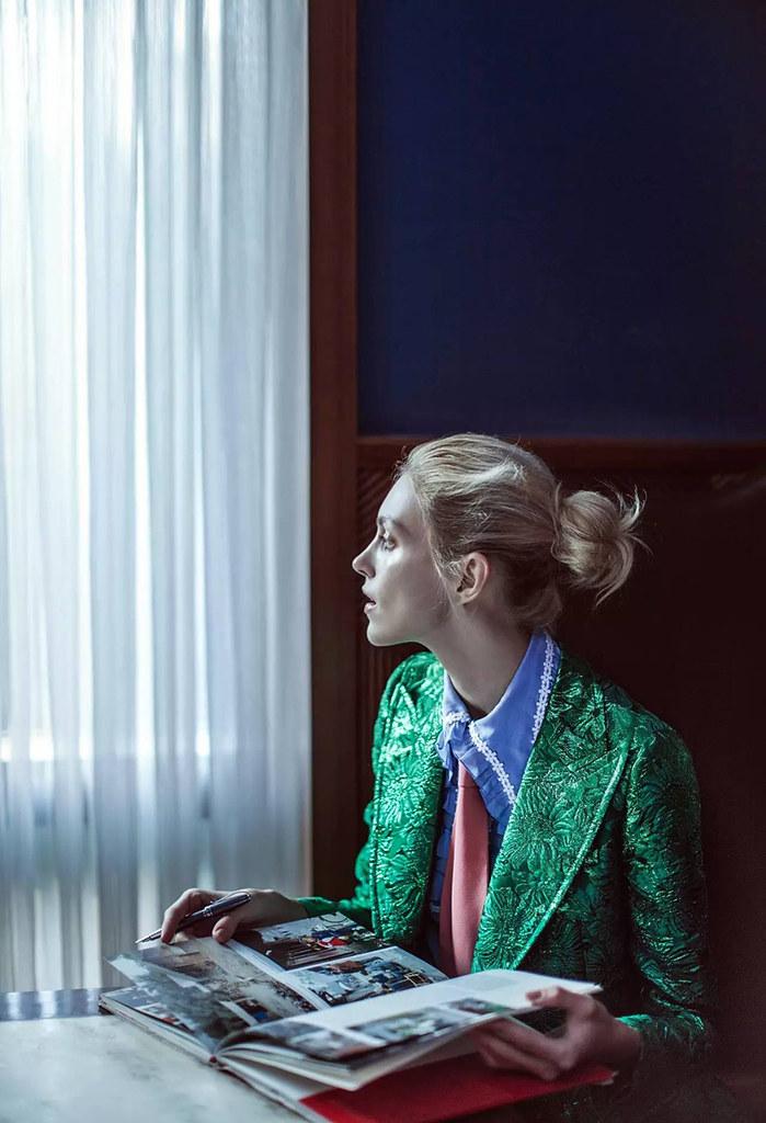 Аня Рубик — Фотосессия для «Vogue» CH 2016 – 2