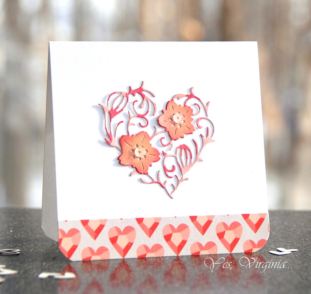 Heart Flower Card #2