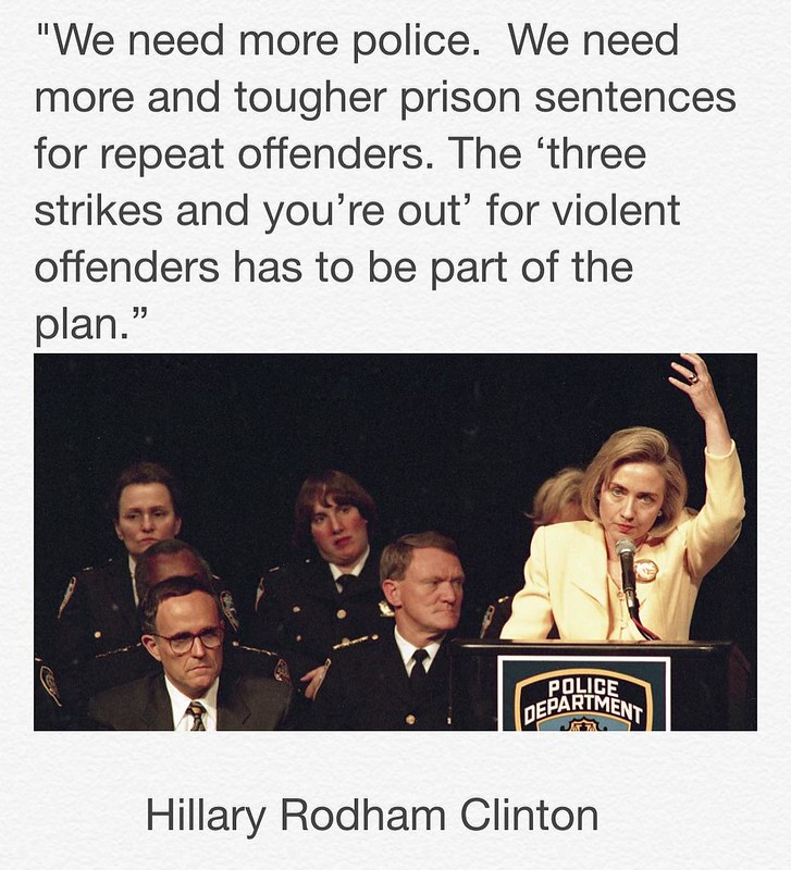 Hillary three strikes prisons Gyasi Ross