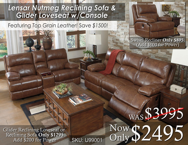 Lensar Leather Reclining Set
