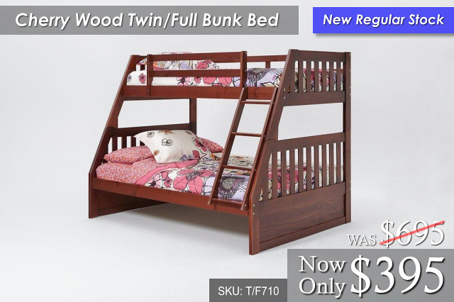 Cherry Wood Bunk T-F