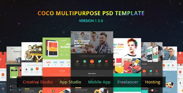 Themeforest Coco v1.3.0 – Multipurpose PSD