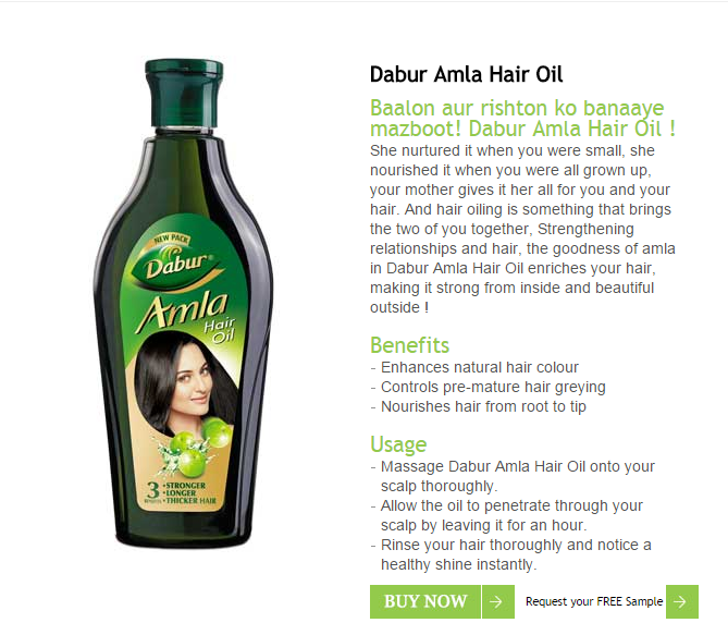 Dabur Amla Oil Free Sample