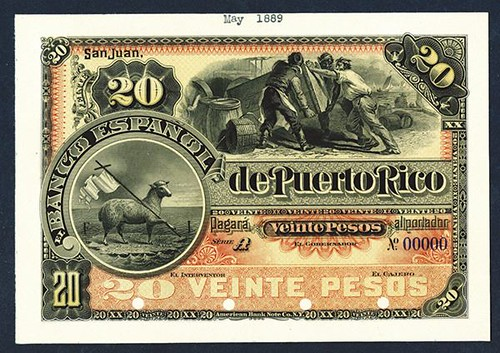Lot 310 San Juan, Puerto Rico 20 Pesos