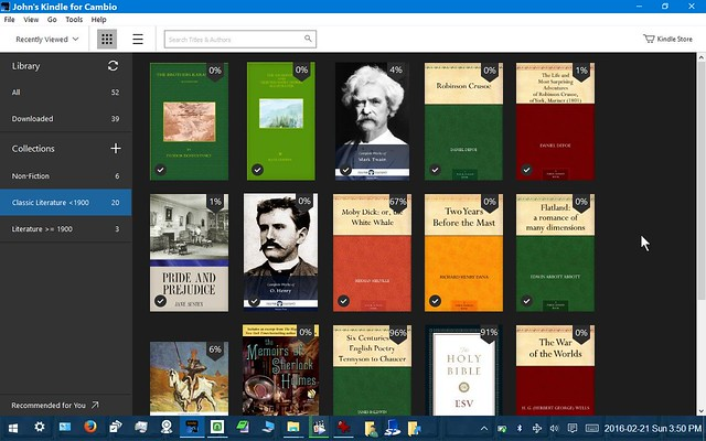 Computer Notebook -- Setting up a Windows 10 Tablet for Ebooks (and