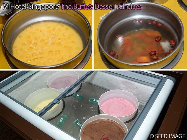 M Hotel Singapore The Buffet Dessert Choices