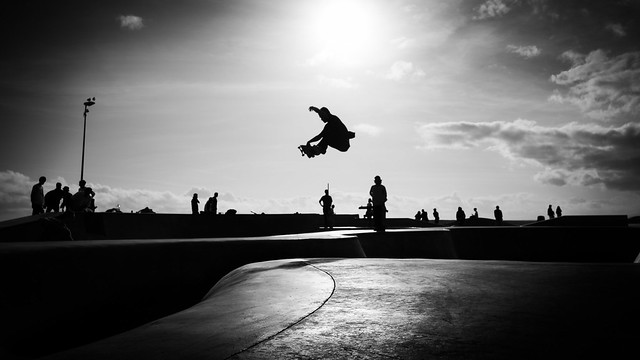 Venice beach - Los Angeles, United States - Black and white street photography