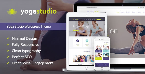 Themeforest Yogastudio v1.0 - Yoga, Gym and Healthcare WP Theme
