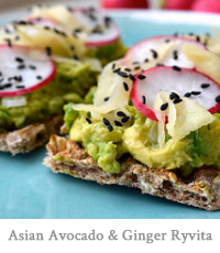 Asian Avocado & Homemade Sushi Ginger Ryvita