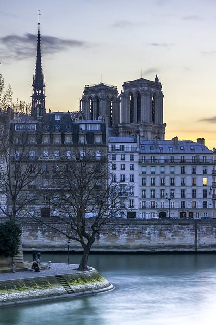 Notre-Dame, sunset