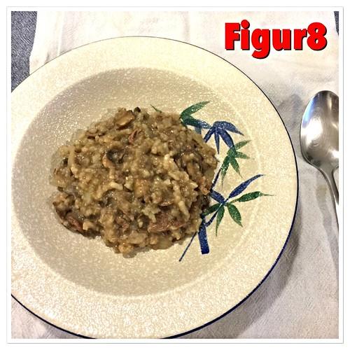 Mushroom beef risotto