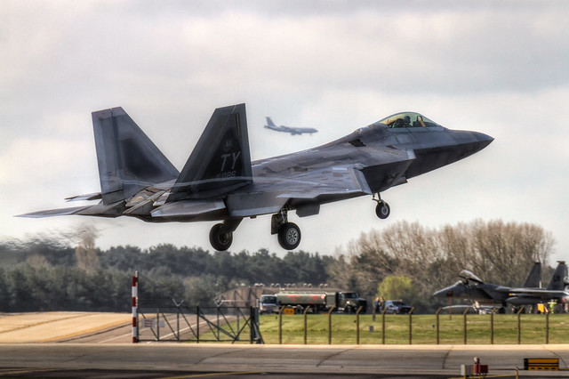 3 in 1 - F-22 Raptor - RAF Lakenheath