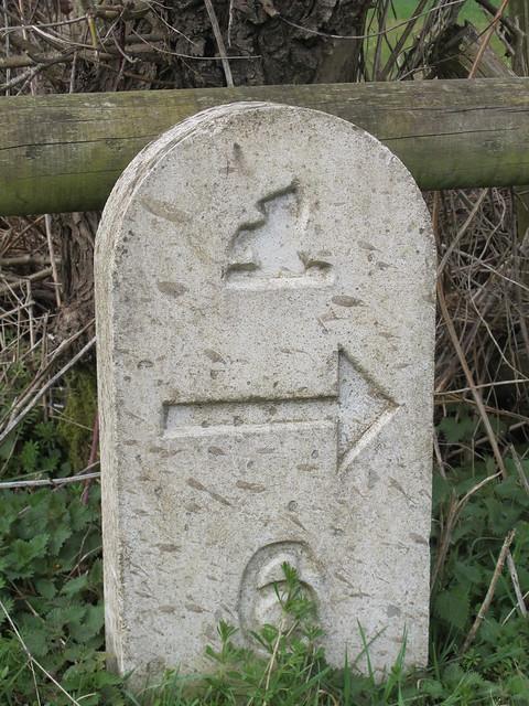 Mottisfont Estate Path Marker Stone 6
