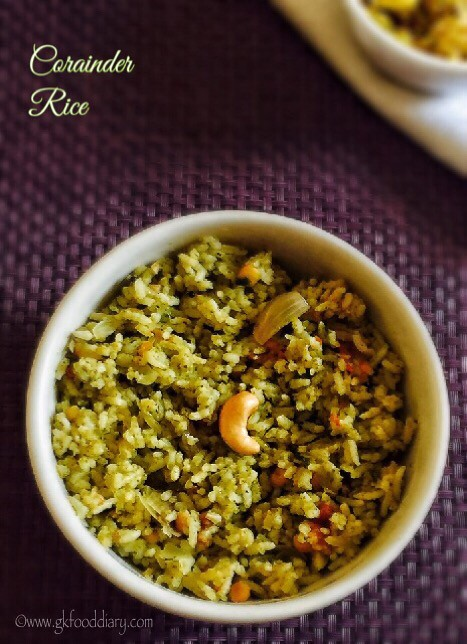 Corainder Rice Recipe for Toddlers and Kids4