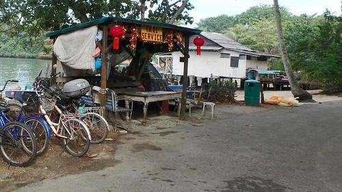 'Taxi Service' at Pulau Ubin