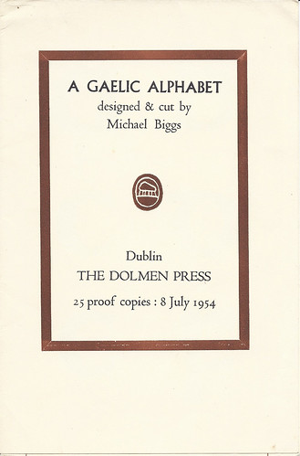 Title page, A Gaelic Alphabet