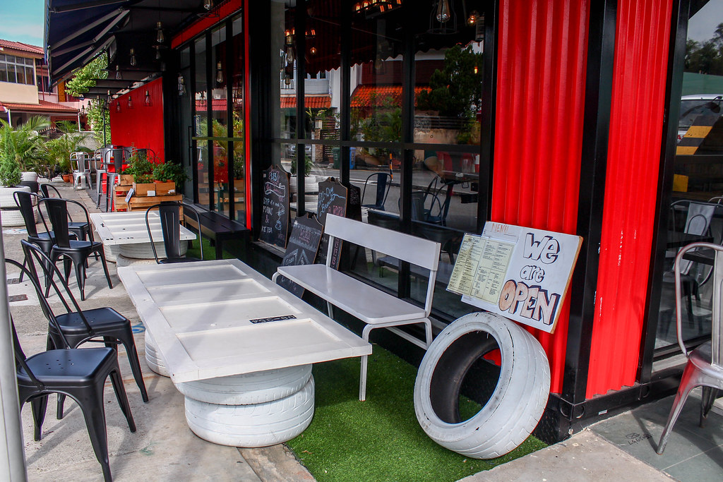 word cafe exterior seats