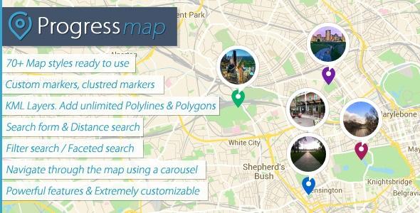 Progress Map v2.8.3 Wordpress Plugin