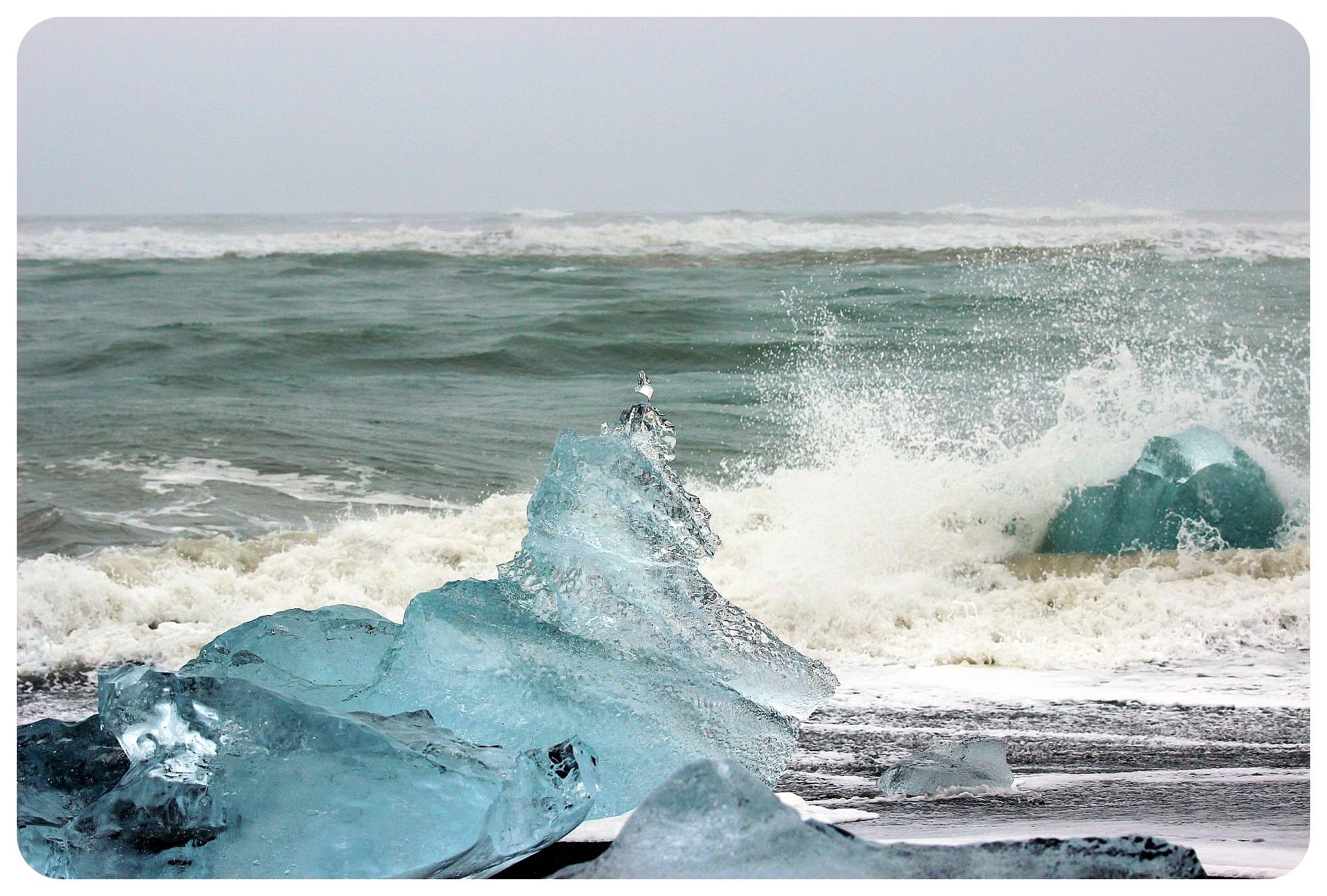 jokulsarlon glacier lagoon ice beach - Copy