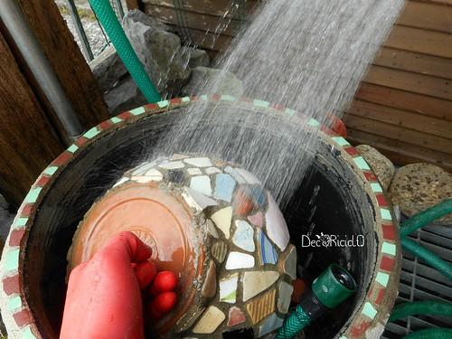 vaso terracotta con mosaico ricicloso 13