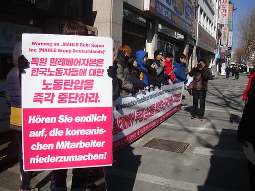 Demo vor dem Konsulat