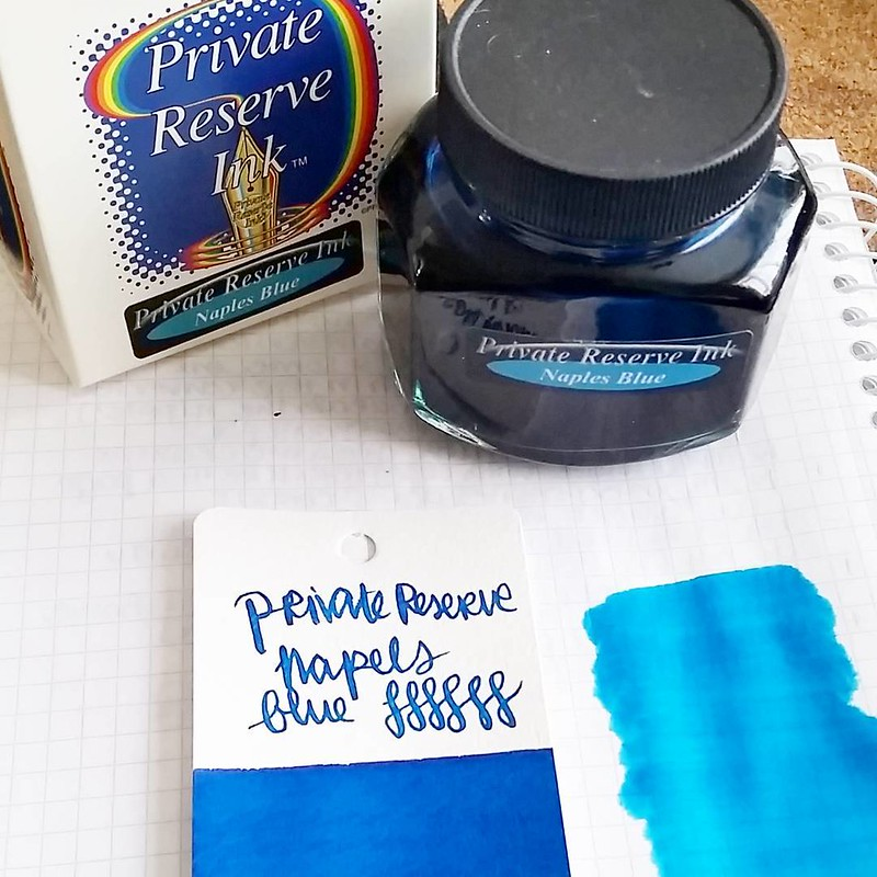 That is s pretty nice blue! Also large bottle score! #privatereserve #naplesblue #Fpgeeks #FPN #fountainpennetwork #fountainpeninks #turquoise #bluehues